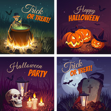 Halloween Banners With The Cha...