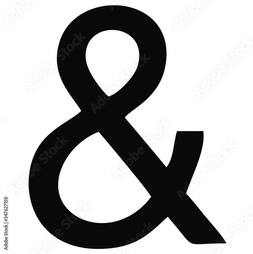 Photo Vector image of an ampersand that is a logogram replacing the Union and