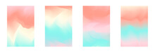 Abstract Tender Pastel Coral A...