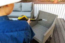 Woman Doing Garden Terrace Fur...