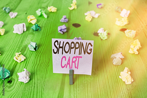 Text sign showing Shopping Cart Wallpaper Mural