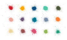 Colorful Paint Stains Set, Col...