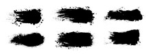 Splashes Set Ink And Grunge. H...