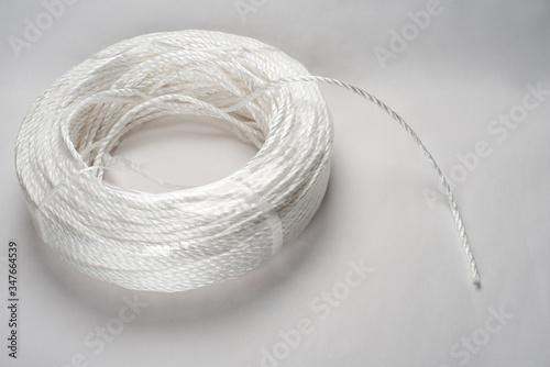 ポリプロピレンの白い梱包用ロープ Wallpaper Mural