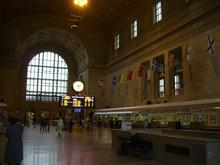 View Of Passenger At Railroad Station