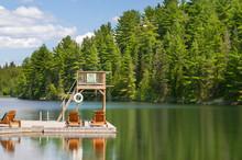 Wooden Trampoline On A Dock. T...