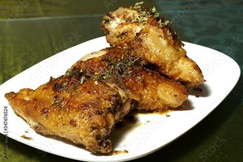 Valokuva Close-up Of Drunken Chicken Served In Plate