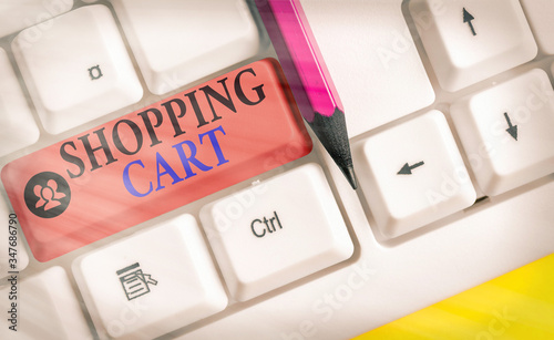 Text sign showing Shopping Cart Canvas Print