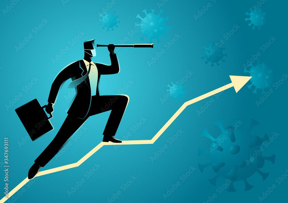 Fototapeta Covid-19 Impacts to Business