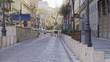 Empty Small Street in Budapest Hungary Europe During Quarantine Coronavirus Epidemic 4K