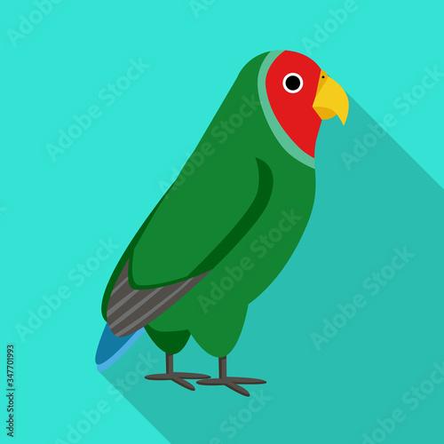 Fototapeta Vector design of parrot and green symbol