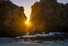 Sunset Through Key Hole At Pfe...