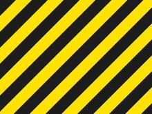 Black And Yellow Hazard Stripe...