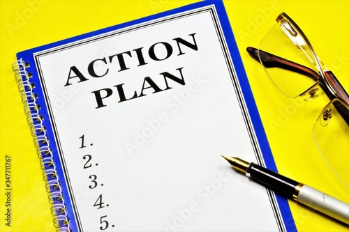 An action plan is an optimal allocation of resources and a strategy of deliberate actions to achieve the goals set in the future Canvas Print