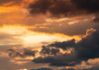 Leinwandbild Motiv yellow and black sky at sunset