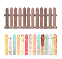 Set Of Rustic Wooden Fence