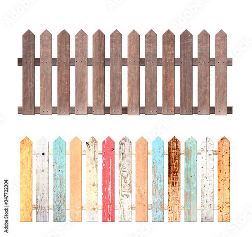 Fotomural Set of rustic wooden fence
