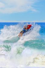 Young Man Of Jet Ski Rider Per...