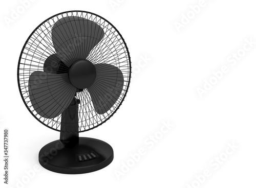 black electric fan blown cold wind