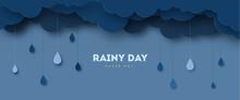 Illustration Of Cloud And Rain...
