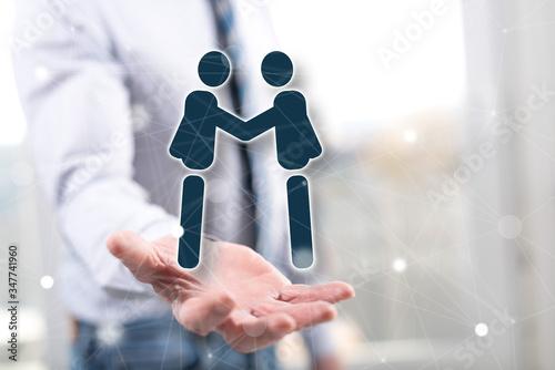 Fototapeta Concept of business partner obraz