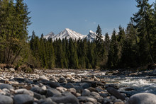 Mountain Riverbed With Views O...