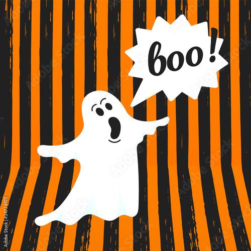 Fényképezés Boo ghost halloween message concept