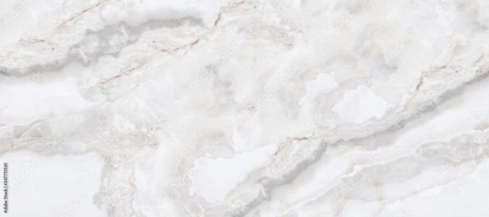 Fototapeta white onyx background, natural marble texture