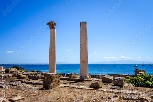 Photo Columns in Tharros archaeological site, Sardinia
