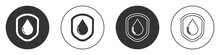 Black Waterproof Icon Isolated...