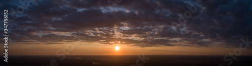 Photo Panorama of sunset at an altitude of 500 meters Ukraine.