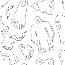 Whisper Ghost Hand Sketch Patt...
