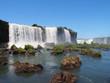 Waterfall in Iguazu National Park, Foz do Iguacu, Brazil