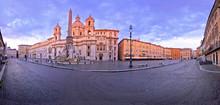Rome. Empty Piazza Navona Squa...
