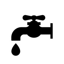 Water Tap Icon. Faucet With Wa...
