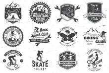 Set Of Bmx, Skateboard And Mtb...