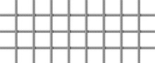 Steel Grid From Reinforced Rebars, Welded Metal Wire Mesh. Vector Realistic Lattice Of Iron Rods For Building Construction, Cage Or Prison Cell. Grate Of Stainless Armature On White Background