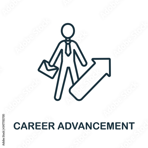Career Advancement icon from business training collection Wallpaper Mural