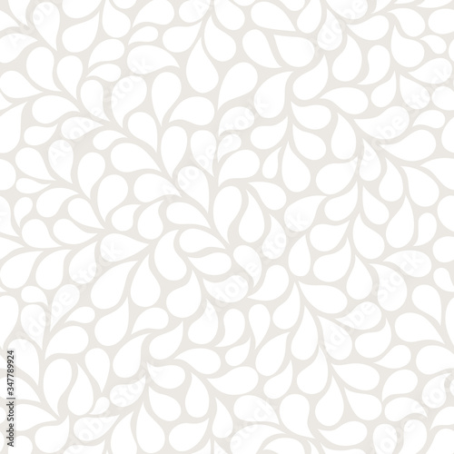 Tapeta beżowa  vector-seamless-gray-pattern-with-white-drops-monochrome-abstract-floral-background-stylish-monochrome-texture