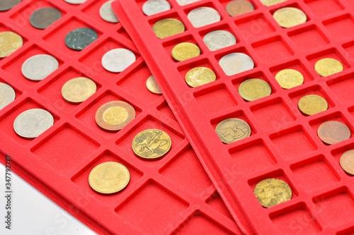 Fotomural colección de diferentes monedas de todo el mundo
