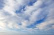 Leinwandbild Motiv beautiful white clouds against a blue sky