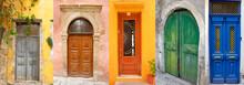 Montage Of Greek Doors