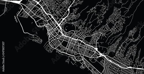Fotografía Urban vector city map of Honolulu, USA. Hawaii state capital