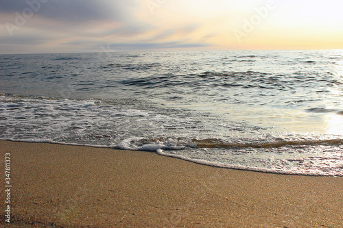 a sea wave came ashore Canvas Print