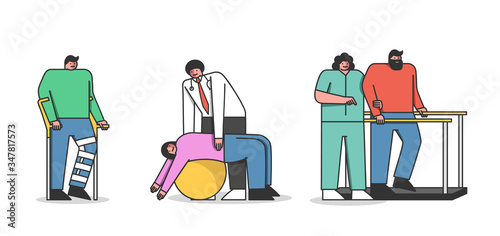 Fotografie, Tablou Concept Of Rehabilitation
