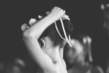 Little Ballerina Is Tying A Ri...