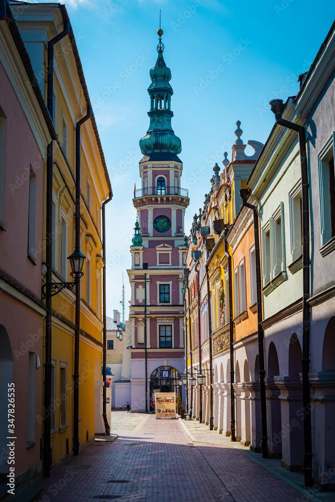 Fototapeta Każda ulica prowadzi na Stary Rynek Zamościa