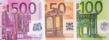 Part Of A 50, 100, 500-euro Ba...