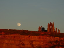 Low Angle View Of Whitby Abbey...