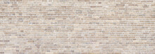 Brick Wall Beige Stone Panorama Background